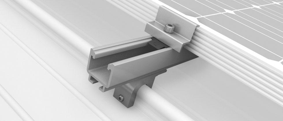konstrukcje dachowe pv blacha na rąbek – SolidRail