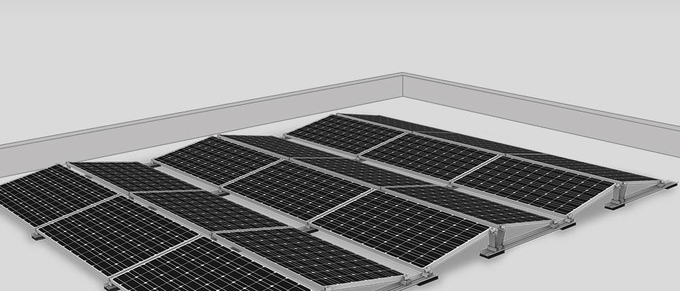konstrukcje dachowe pv dach płaski S-Dome V